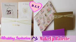 How To Do Invitation Card Diy Makeup Palette From Wedding Invitation Card Cardboard With