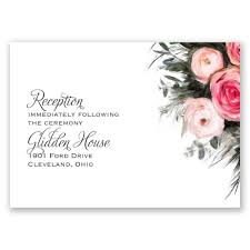 reception invitations ethereal garden reception card invitations by