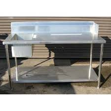 stainless steel butcher table custom made commercial hand sink stainless steel 3 feet wide one