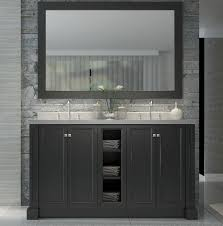 ace westwood 60 inch double sink bathroom vanity set in black finish