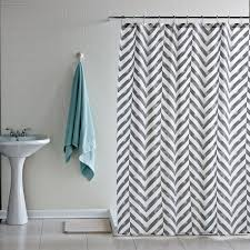 wall decor chevron curtains with white wall for bathroom ideas