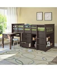 sweet deal on deion twin low loft bed with storage