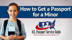 how to get a passport for a minor youtube