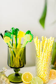 lemon stirrer half lemon fiesta citrus palm springs event swizzle