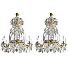 Star Chandeliers Pair Of Rock Crystal Star Chandeliers By Alexandre Vossion For