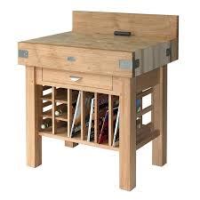 meuble billot en bois de bout de charme massif de 15 cm d
