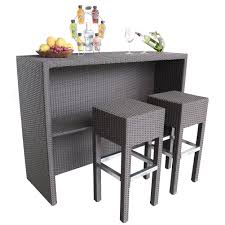 Weatherproof Patio Furniture Sets by Abba Patio 3 Pc Outdoor Wicker Bar Set Patio Furniture Set With 1