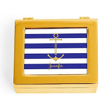 themed jewelry box personalized boat anchor nautical themed jewelry box candy cake