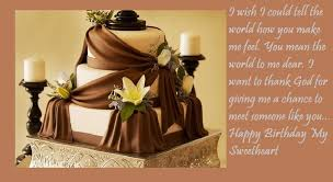 cute love birthday cake wishes for her best wishes