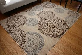 Area Rug Modern New City Contemporary Modern Flowers Circles Wool Area