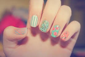 pretty pattern nails u2013 kawaii nail art hawaii kawaii blog