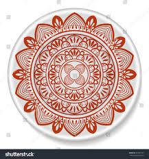 Ethnic Indian Home Decor Mandala Ornament On Plate Tribal Ethnic Stock Vector 285991505