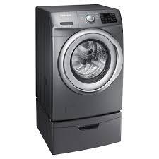 Front Load Washer With Pedestal Samsung 4 2 Cu Ft Capacity Front Load Washer With Steam