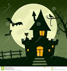 halloween haunted house flyer background haunted house background stock vector image 44300822