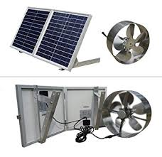 eco worthy 25w solar powered attic ventilator gable roof vent fan