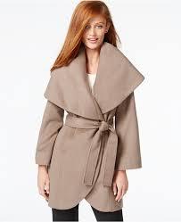 tahari wool blend wrap coat women u0027s cold weather clothing