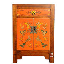 hand painted bedroom furniture chinese classical hand painted butterfly lacquer painting wooden