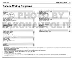 2012 ford escape gas wiring diagram manual original