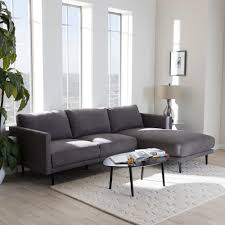 Vintage Curved Sofa by Home Decorators Collection Riemann 2 Piece Smoke Microsuede