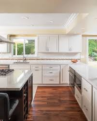 Kitchen Island With Microwave White Shaker Cabinets Espresso Island With Microwave In Island
