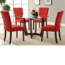 Microfiber Dining Room Chairs Dreamfurniture Com Baldwin 8mm Glass Top U0026 Microfiber Dining