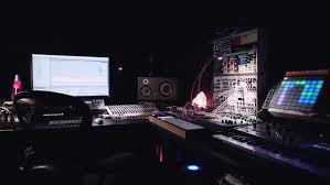Studio Work Desk Sound Desk Music Production Man Using Controls Stock Footage