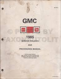 1985 gmc s 15 pickup u0026 s15 jimmy repair shop manual original