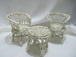 white wicker furniture ebay