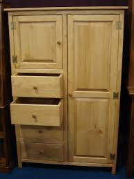 Entryway Armoire by Pine Wood Wardrobe Armoire From Dutchcrafters Amish Furniture