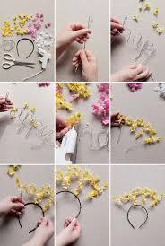 flower headbands diy floral happy birthday headband diy oh happy day diy