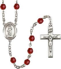 birthstone rosary st barbara ruby july birthstone rosary the inspiring catholic store