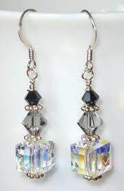 diy drop earrings swarovski drop earrings shades of gray jewelry
