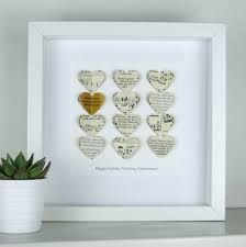 golden wedding anniversary gifts personalised golden wedding anniversary heart gift by made in