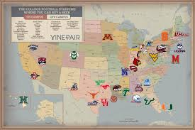 Colleges In Virginia Map by Map Every College Football Stadium Where You Can Buy A Beer