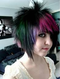photo short emo hair for woman short emo punk hairstyles women