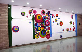 Rainbow Home Decor by Decorations Fascinating Colorful Wall Painting Idea In Rainbow