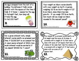 direct inverse and joint variation foldable and task cards by joan