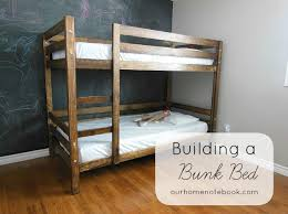Plans For Building Built In Bunk Beds by Building A Bunk Bed Our Home Notebook