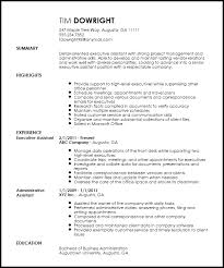 free professional executive assistant resume template resumenow