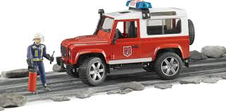 Bruder Land Rover Defender Station Wagon Fire Department With