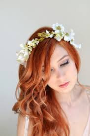 white flower headband wedding headband dogwood crown white flower crown bridal