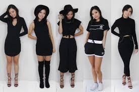 all black all black lookbook youtube