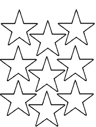 nine christmas star is cool and nice coloring page stencils