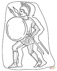roman warrior coloring free printable coloring pages