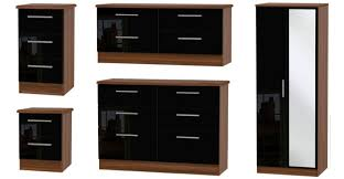 Black High Gloss Bedroom Furniture by Knightsbridge Bedroom Furniture Black Gloss U0026 White Gloss Range