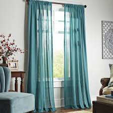 World Market Smocked Curtains by Quinn Sheer Curtain Teal Pier 1 Imports Home Decorating