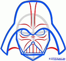 drawn mask darth vader pencil and in color drawn mask darth vader