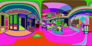 panoramic 360 deluxe european family living room restaurant 13 3d