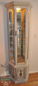 corner curio cabinets for sale furniture white corner curio cabinet mirrored lighted mirage