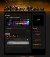 city blog free html css templates